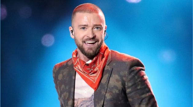 Justin Timberlake performs at the 2018 Super Bowl halftime show.
