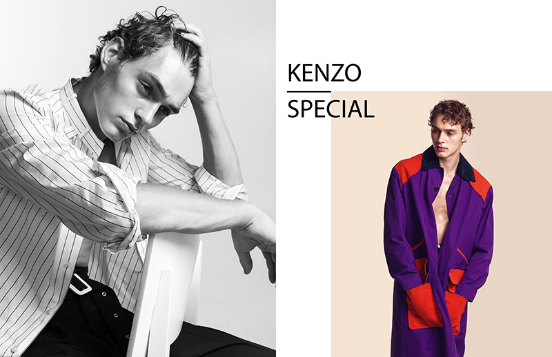 Dennis Weber photographs Dani in looks from Kenzo's spring-summer 2018 collection.