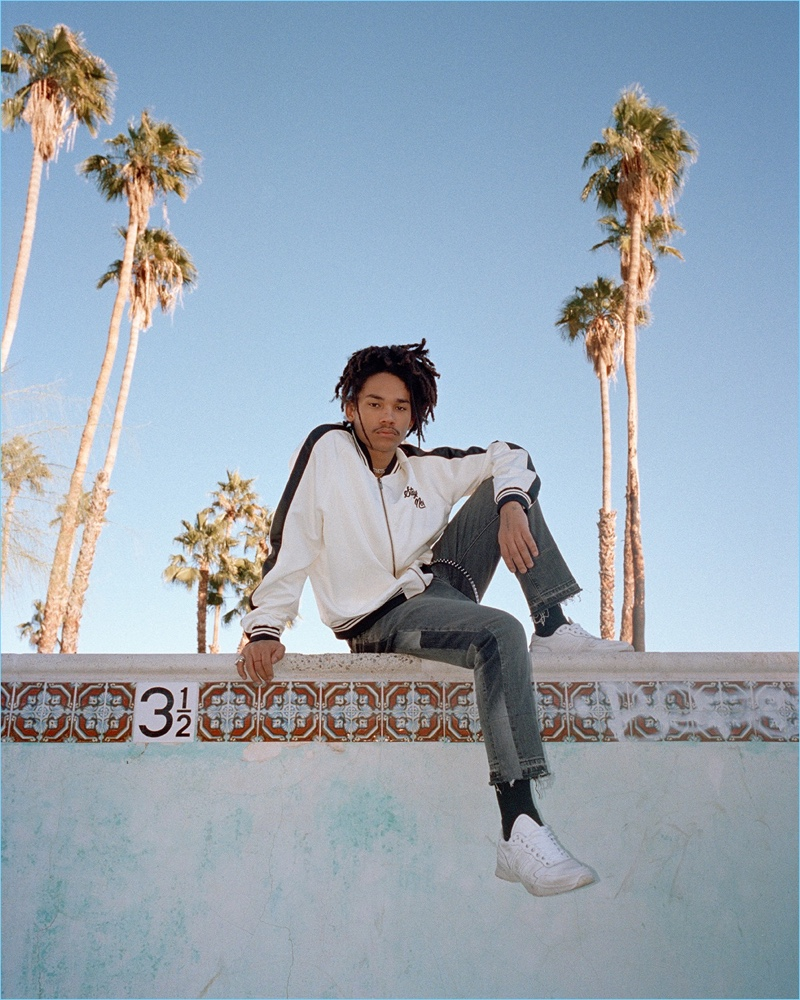Traveling to Palm Springs, Luka Sabbat stars in The Kooples' spring-summer 2018 campaign.