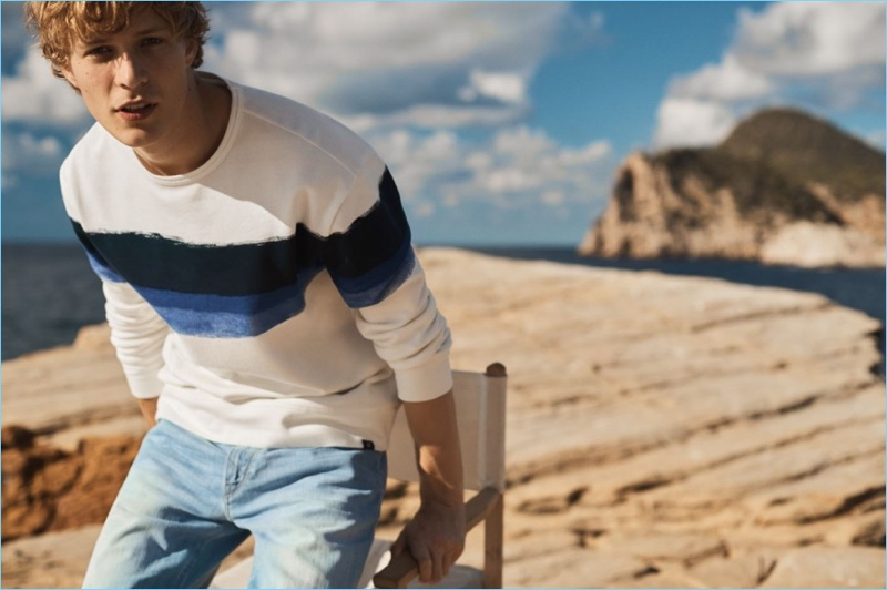 Marc O'Polo enlists Sven de Vries as the star of its spring-summer 2018 campaign.