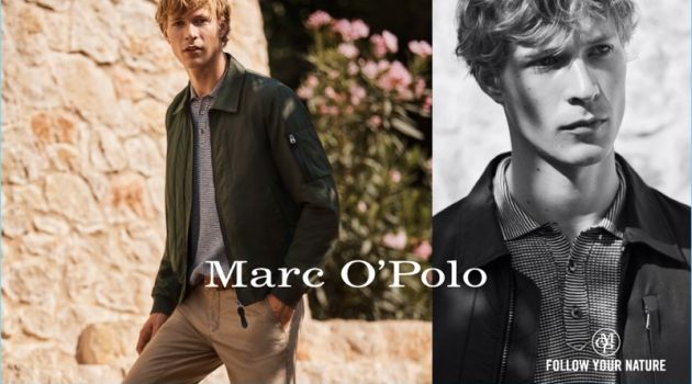 Sven de Vries stars in Marc O'Polo's spring-summer 2018 campaign.