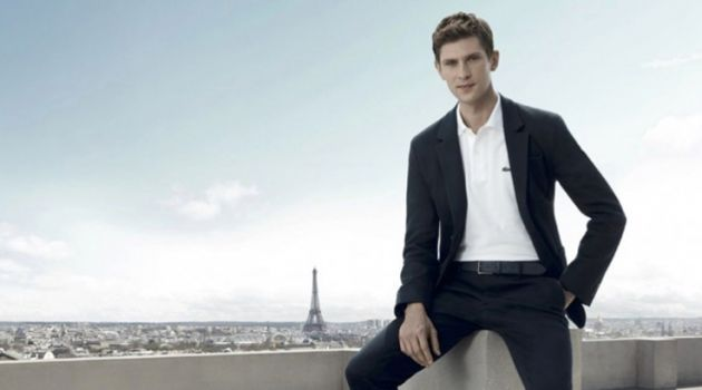 Mathias Lauridsen stars in the L'Homme Lacoste fragrance campaign.