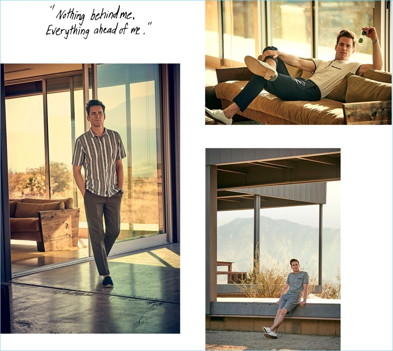 Actor Matt Bomer reunites with Todd Snyder for its spring-summer 2018 campaign.