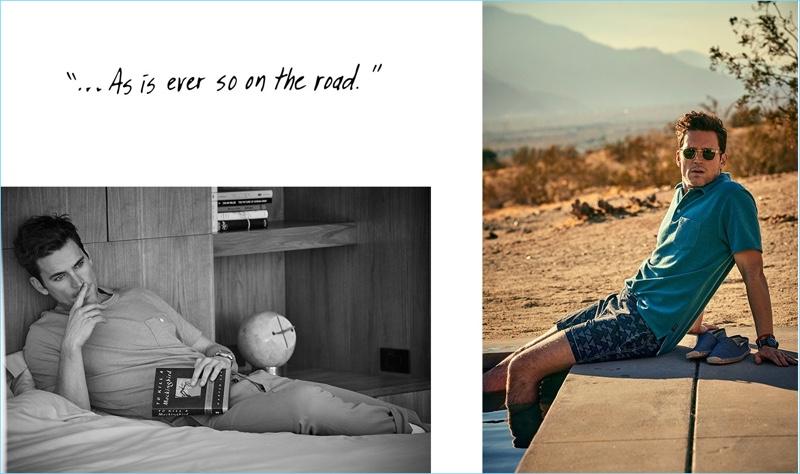 Actor Matt Bomer fronts Todd Snyder's spring-summer 2018 campaign.