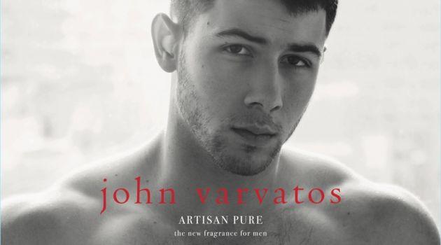 Nick Jonas fronts the fragrance campaign for John Varvatos Artisan Pure.
