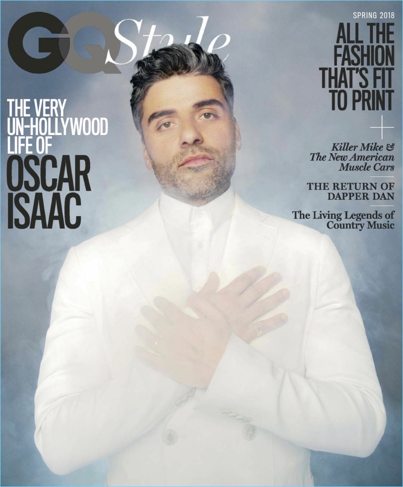 Oscar Isaac covers the spring 2018 issue of GQ Style.