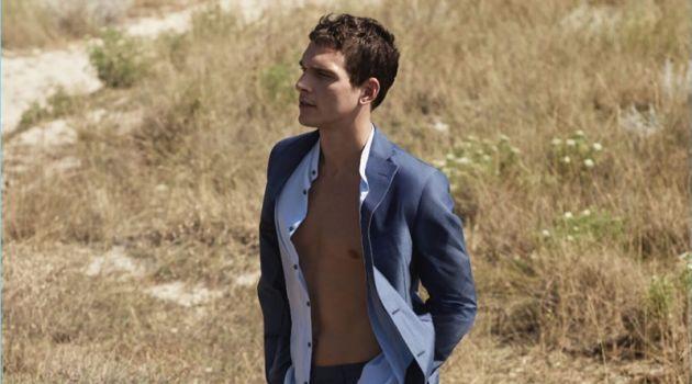 Alexandre Cunha stars in Pal Zileri's spring-summer 2018 campaign.