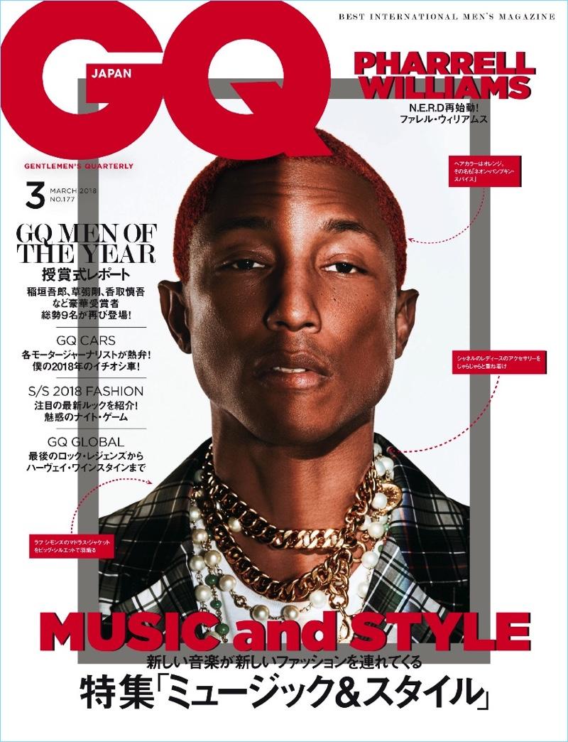 Pharrell Williams Gq Japan 2018 Cover Photo Shoot
