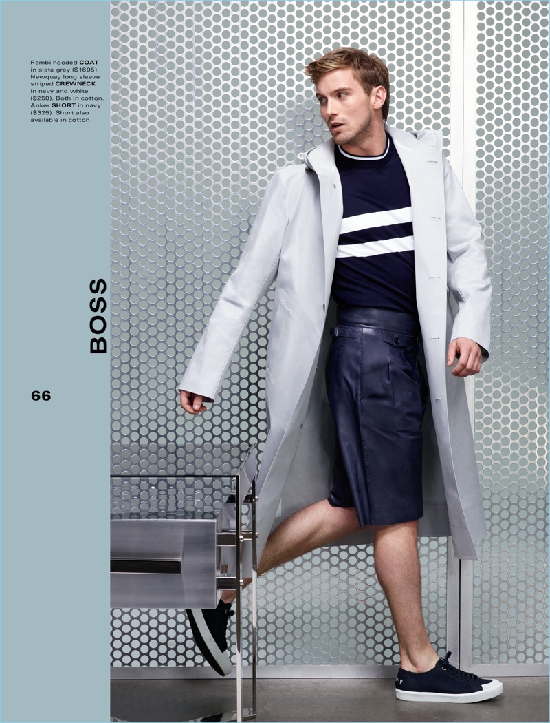 Embracing an athleisure-inspired look, RJ King wears BOSS.