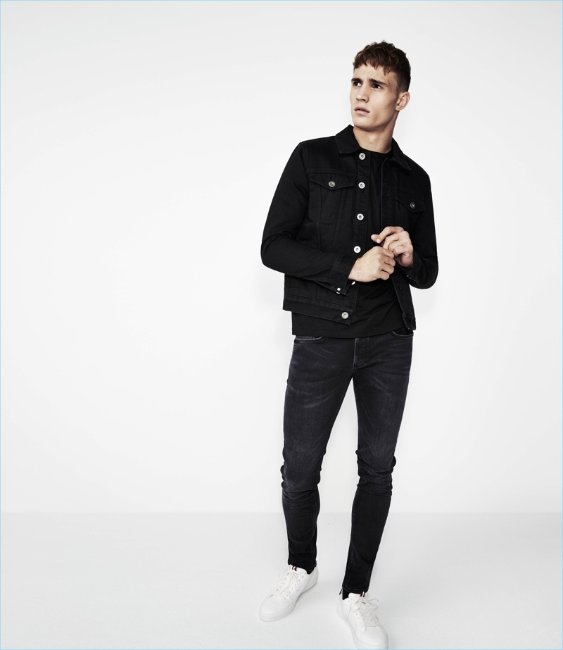 5555703cab7 River Island Spring Summer 2018 Men s Denim Campaign. Julian Schneyder  doubles down on denim for River Island.