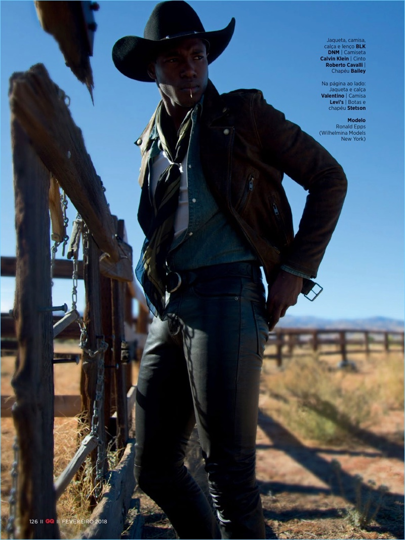 Go West: Ronald Epps Channels Cowboy Style for GQ Brasil