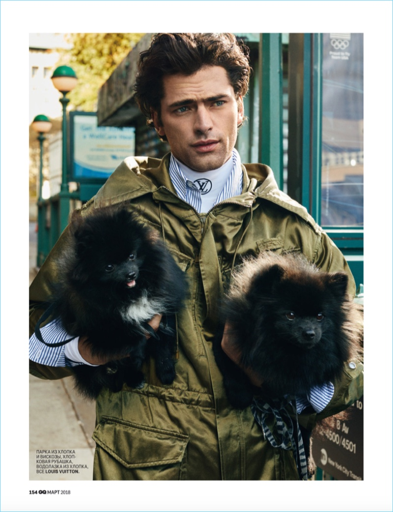 Sean O'Pry Takes Up Dog Walking for GQ Russia
