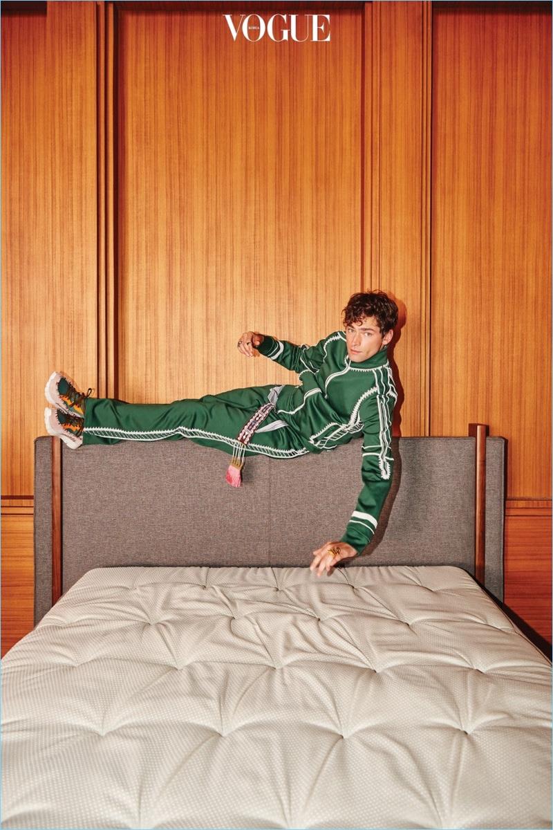 Sean O'Pry Models Designer Looks for Vogue Korea