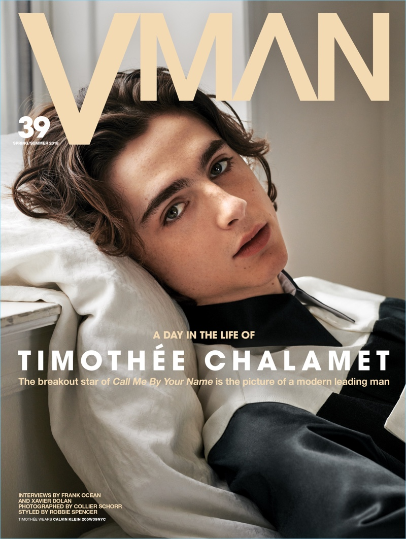 Timothée Chalamet covers the most recent issue of VMAN.