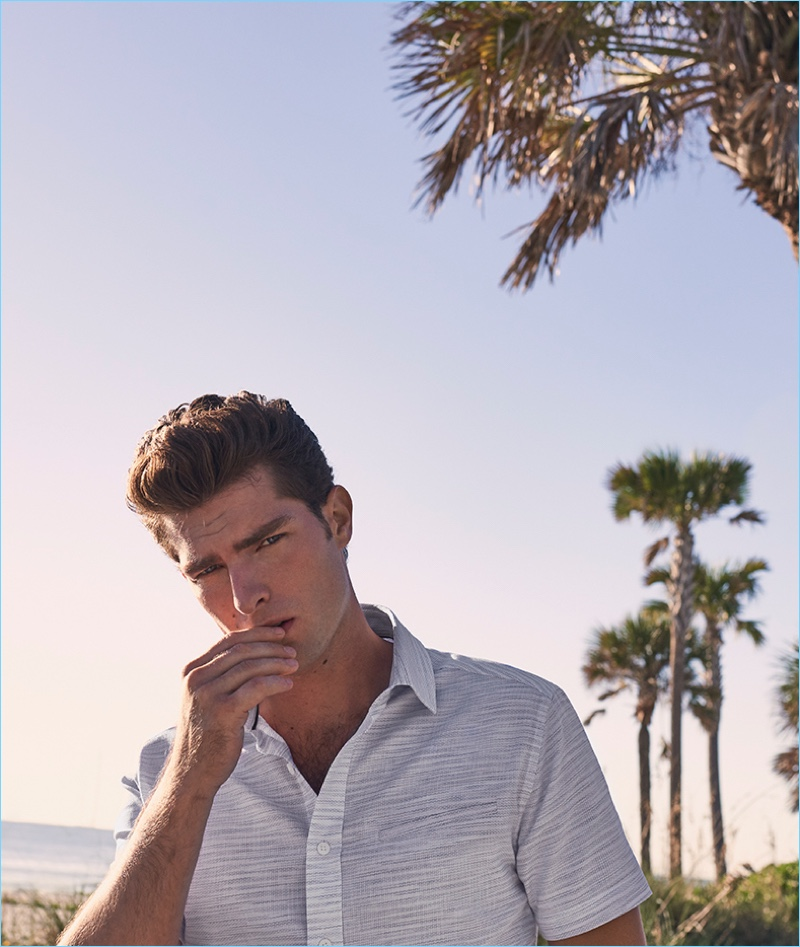 Model Paolo Anchisi stars in Vince Camuto's spring-summer 2018 campaign.
