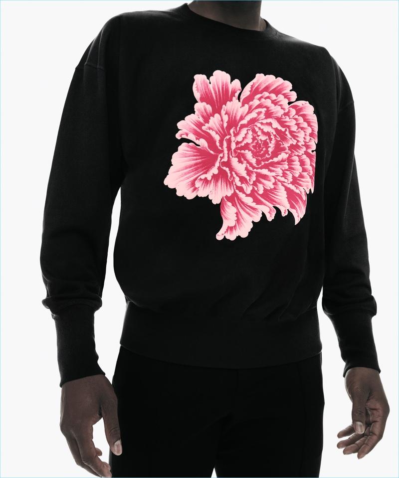 Y-3's new sweatshirt features an oversize Botan graphic.
