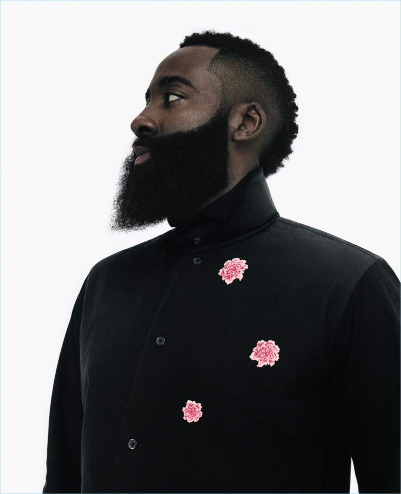 Houston Rockets player James Harden links up with Y-3 for a capsule collection.