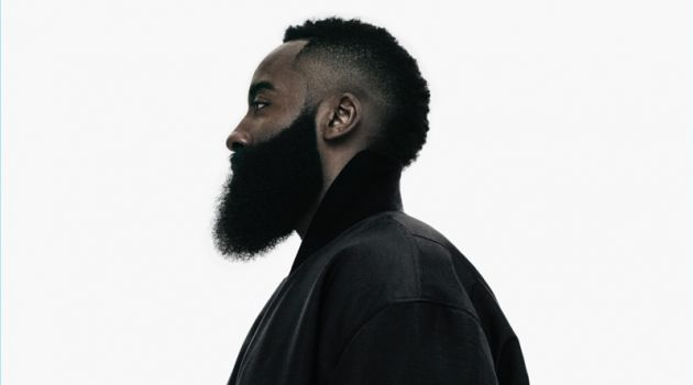 Basketball player James Harden wears a bomber jacket from Y-3's new capsule collection.