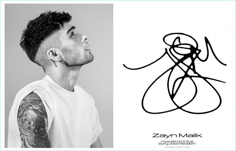 Bruno Staub photographs Zayn Malik for Interview Germany.