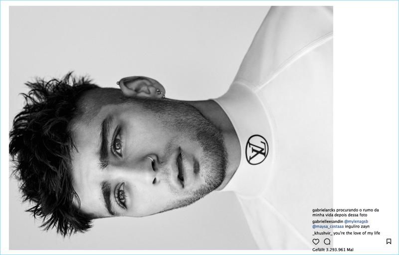 Singer Zayn Malik wears Louis Vuitton for Interview Germany.