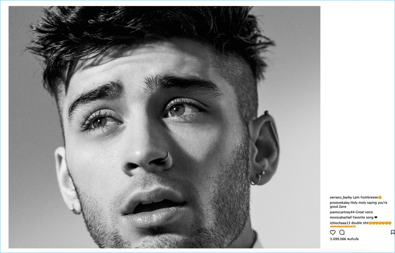 Ready for his close-up, Zayn Malik stars in a photo shoot for Interview Germany.