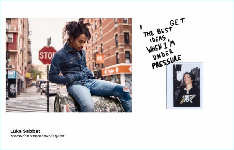 Luka Sabbat fronts 7 For All Mankind's spring-summer 2018 campaign