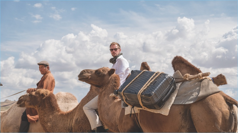Putting Tumi's Latitude collection to the test, Alexander Skarsgård fronts a campaign for the brand.