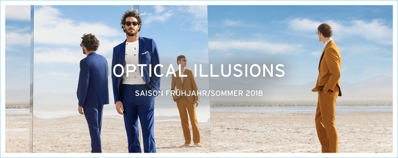 Anson's enlists Justice Joslin and Roberto Sipos as the stars of its spring-summer 2018 campaign.