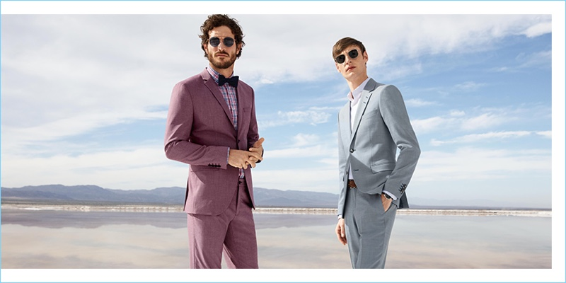 Donning Selected suits, Justice Joslin and Roberto Sipos appear in Anson's spring-summer 2018 campaign.