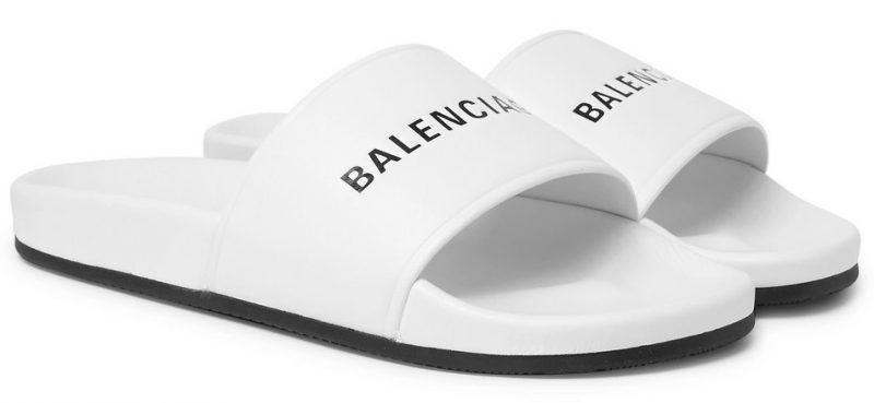 Balenciaga Printed Leather Slides