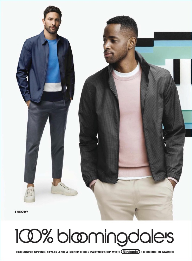 Noah Mills and Jay Ellis go casual in Theory.