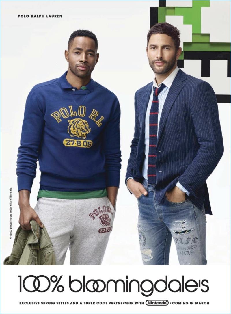Jay Ellis and Noah Mills wear looks from POLO Ralph Lauren.