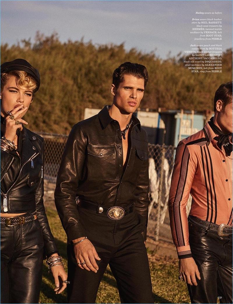 Sons of Aloha: Julian Schneyder, Mikkel Jensen + More for British GQ Style
