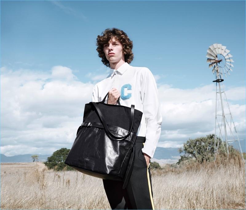Fernando Albaladejo stars in CK Calvin Klein's spring-summer 2018 campaign.