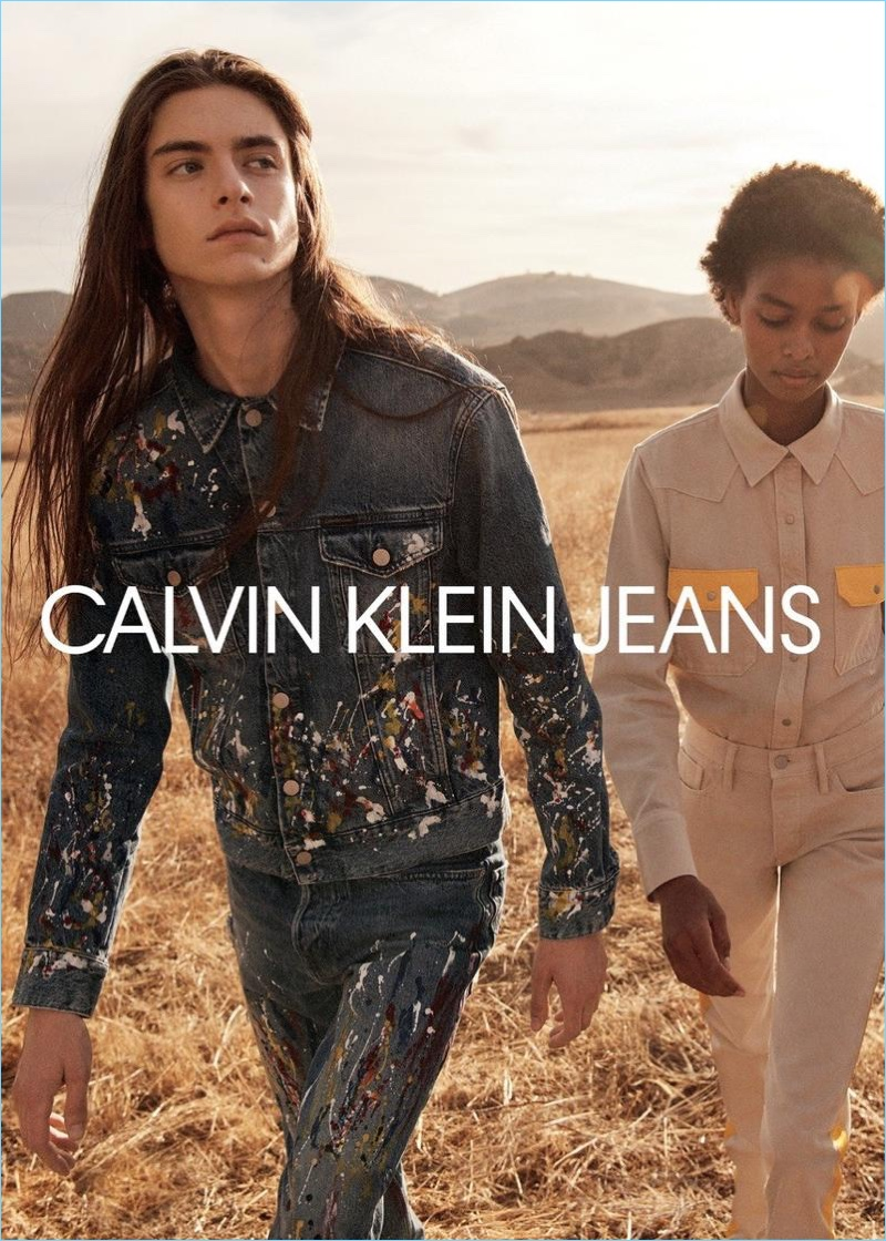 Dylan Christensen and Blesnya Minher star in Calvin Klein Jeans' spring-summer 2018 campaign.