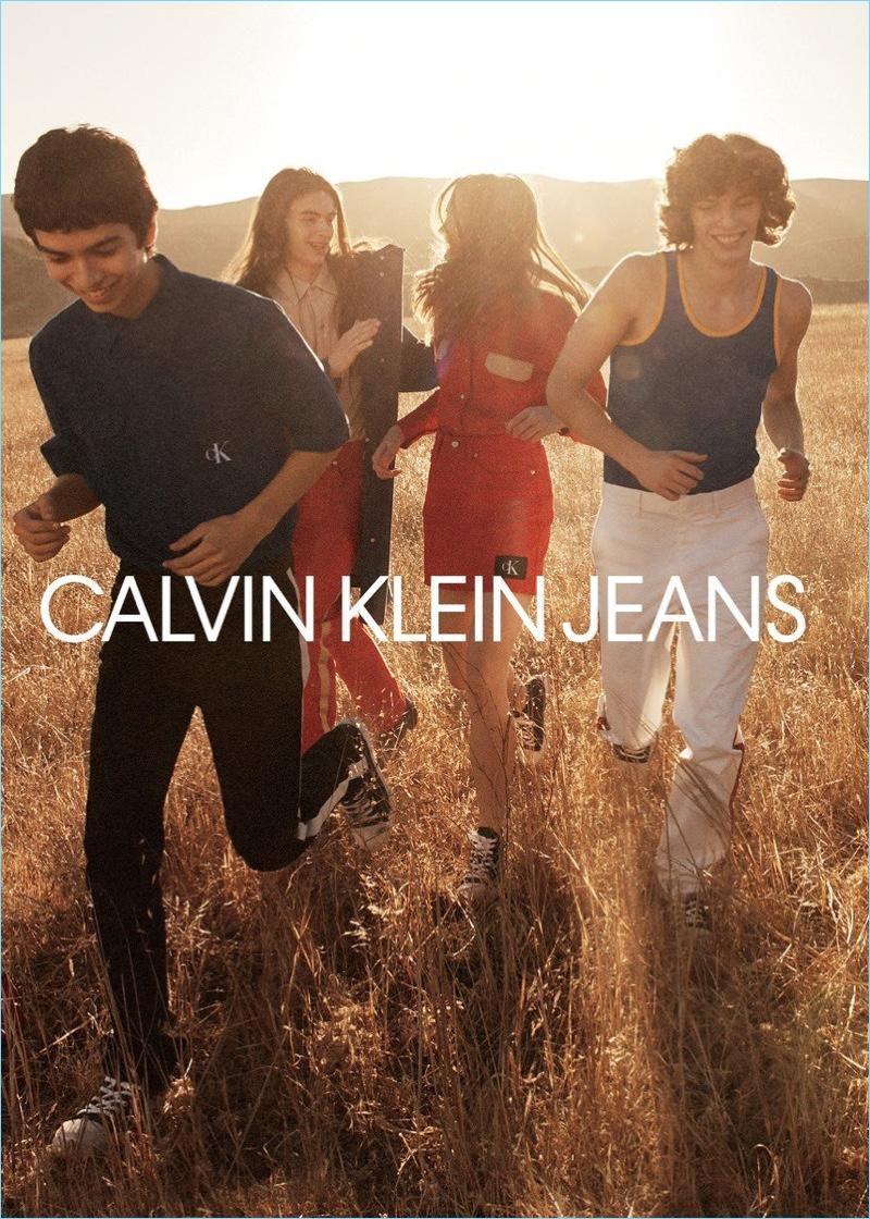 Ernesto Cervantes and Fernando Albaladejo front Calvin Klein Jeans' spring-summer 2018 campaign.