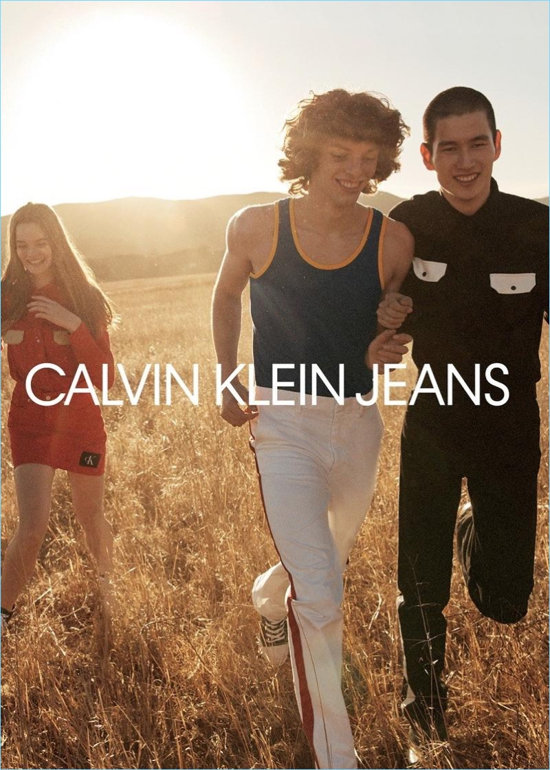 All smiles, Fernando Albaladejo and Kohei Takabatake appear in Calvin Klein Jeans' spring-summer 2018 campaign.