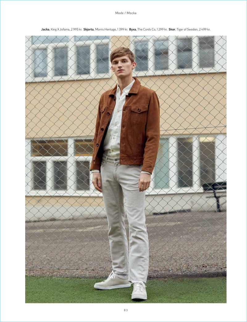 Charlie Westerberg Dons Suede Jackets for King Magazine