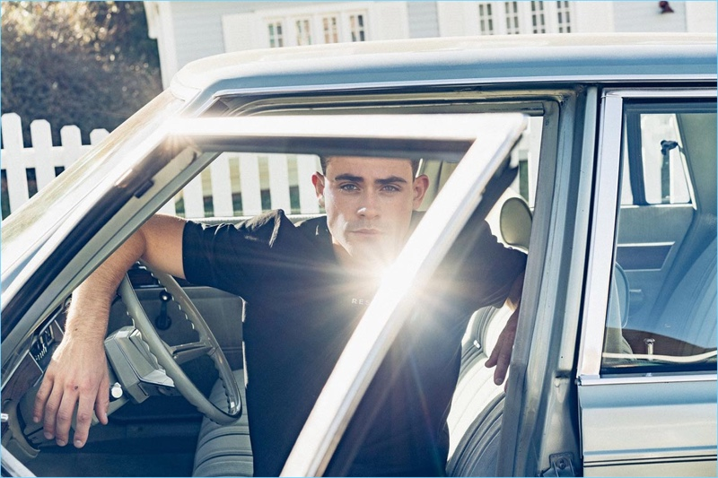 Dacre Montgomery fronts Reserved's summer 2018 campaign.