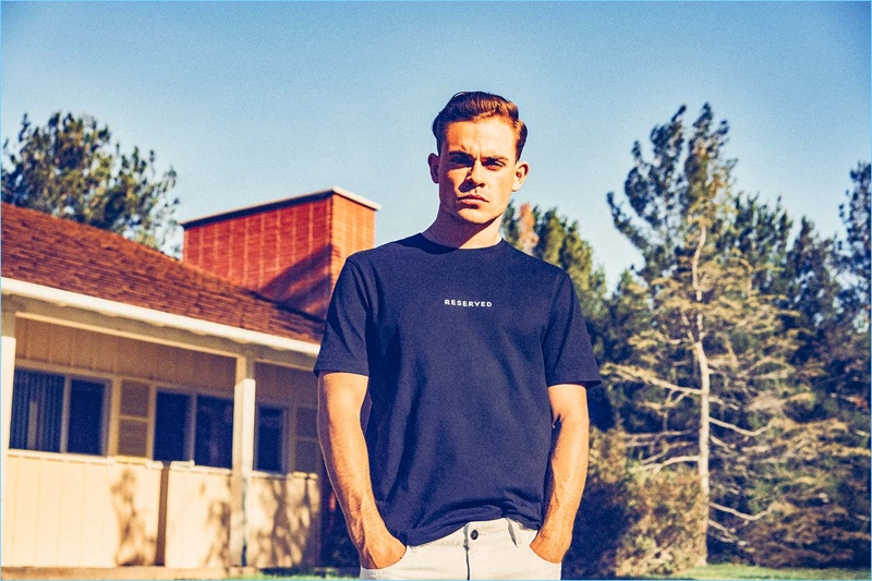 Actor Dacre Montgomery connects with Reserved for its latest campaign.