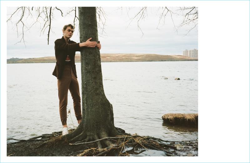 Dani van de Water Dons Ermenegildo Zegna Couture for Manifesto Cover Shoot
