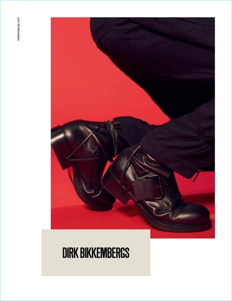 Dirk Bikkembergs features its shoes as part of its spring-summer 2018 campaign.