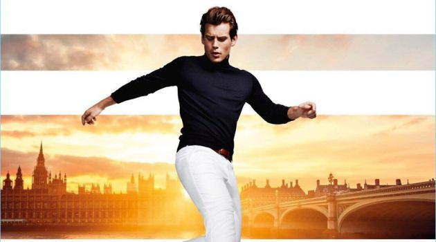 British model Matt Trethe fronts Dune London's spring-summer 2018 campaign.