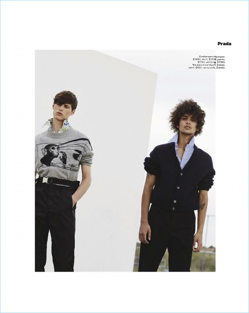 Trè Samuels, Ethan Turnbull & Conlan Munari Model Spring Collections for GQ Australia