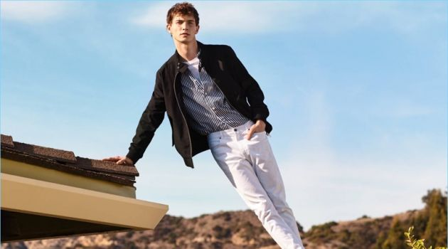 The Look of Now: Luc Defont-Saviard Steps Out in New H&M Styles