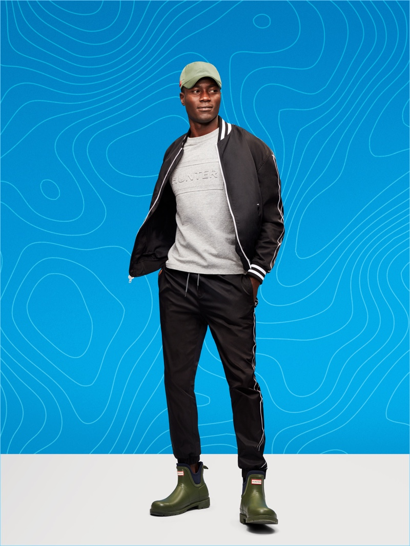 Remi goes sporty in a look from Hunter's Target collaboration.
