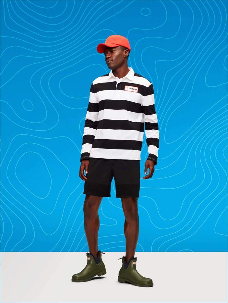 Making a case for bold stripes, Remi wears a look from Target's Hunter collaboration.