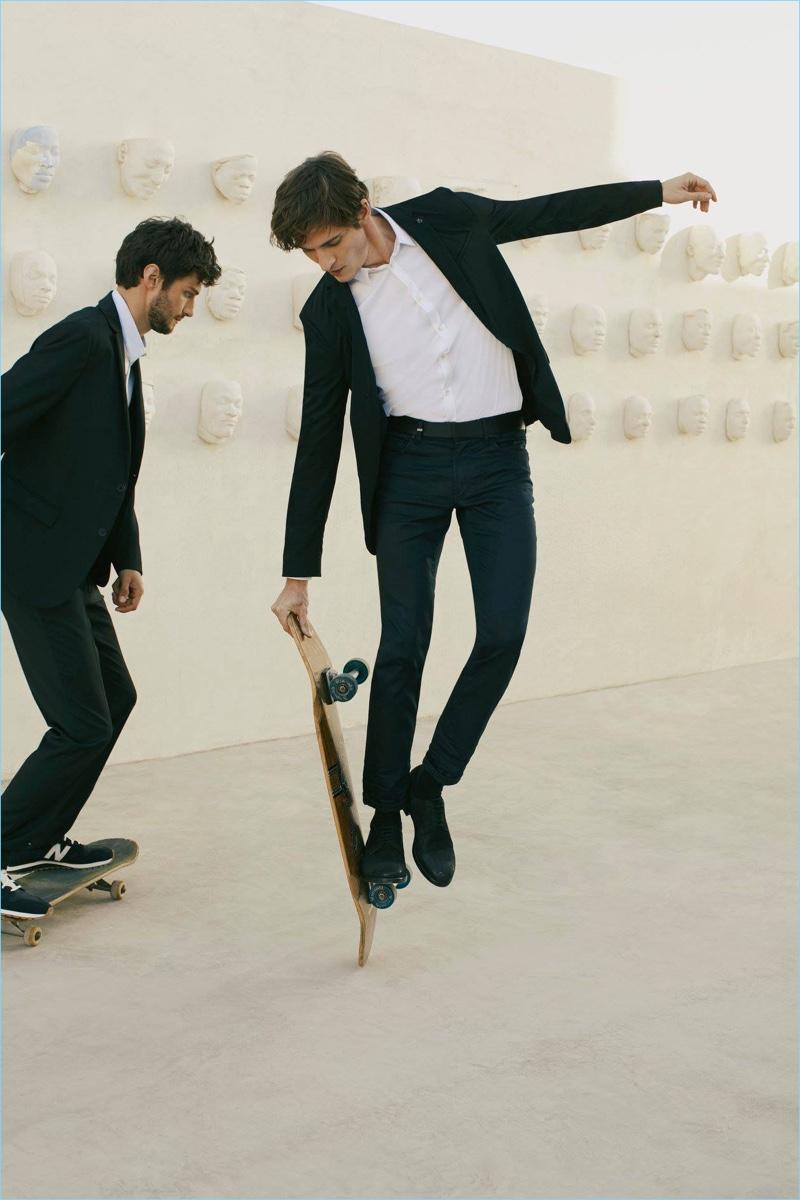 Matthew Bell and Matvey Lykov star in IKKS' spring-summer 2018 campaign.