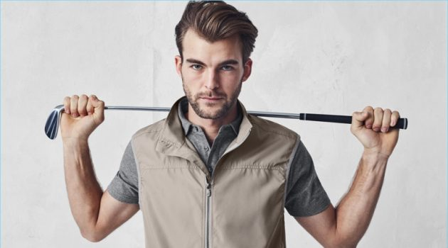 Patrick Kafka models a look from J.Hilburn's new golf collection.