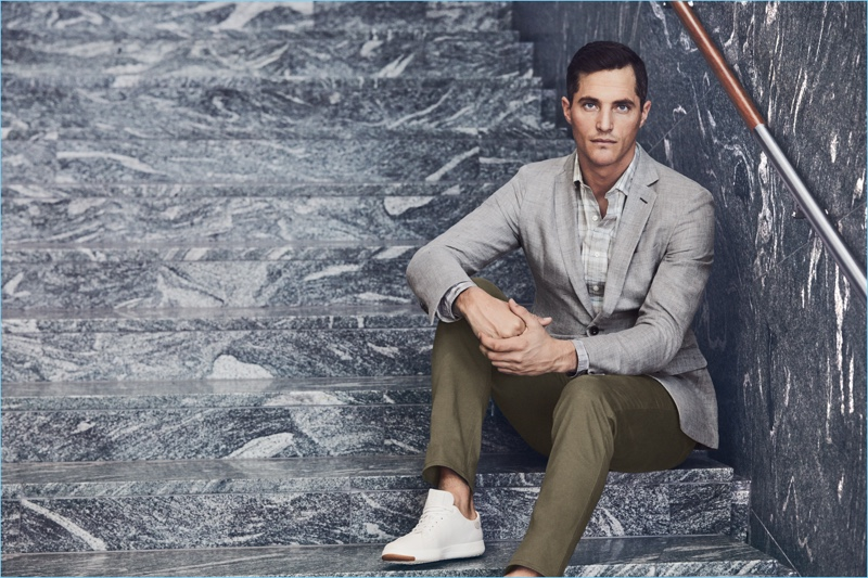 Ollie Edwards showcases smart style from J.Hilburn.